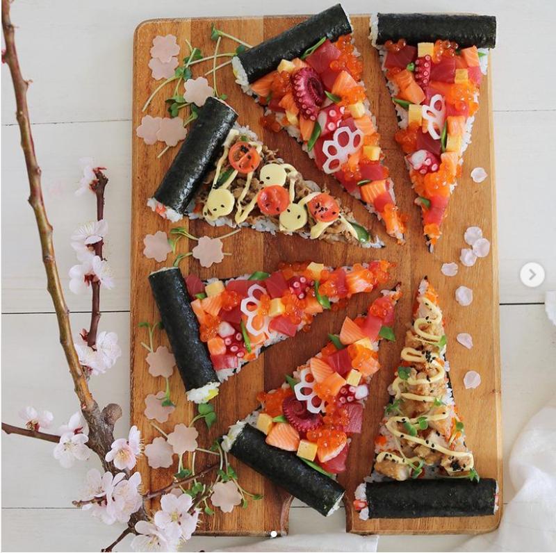 こどもの日にオススメ!遊び心が目を覚ます「#寿司ピザ」