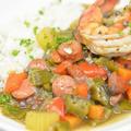 ガンボスープをダッチオーブンで作る