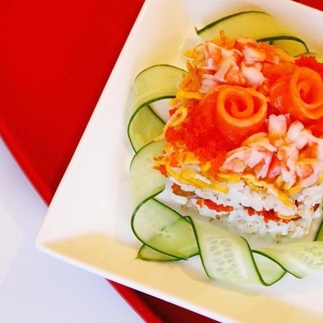 お花の押し寿司❤