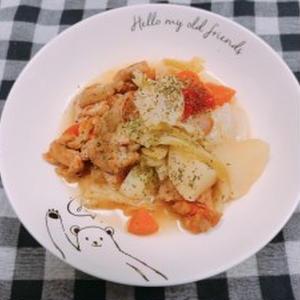 鶏もも肉と野菜の旨辛煮込み