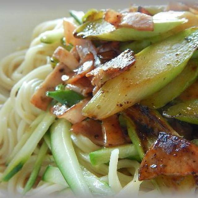 アスパラベーコン冷麺~バリエーション冷やし中華