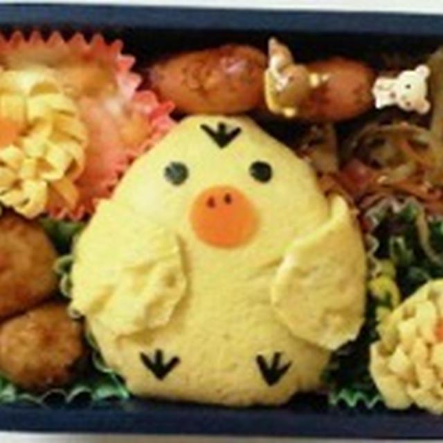キイロイトリ 弁当♪♪  ★★飾り巻き寿司 レッスン ばら 梅の花 かえる