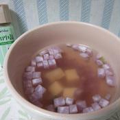 セロリ風味の豆腐と大根のスープ