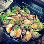 ガスコンで国産ハマグリの簡単グリルのレシピ~九十九里浜ではハマグリが大漁らしい。