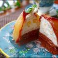 洋梨の赤ワイン煮のツリーケーキ