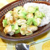 鶏肉とアボカドのレモンペパーミックス丼
