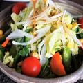 ■【春サラダ】 野菜の盛り付けのみで 市販ドレッシン グ使用で簡単です♪