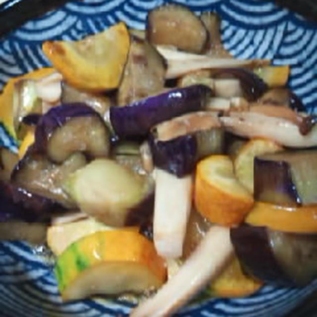 茄子とズッキーニのピリ辛マリネ