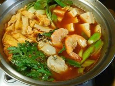 牡蠣と海老のキムチ鍋☆