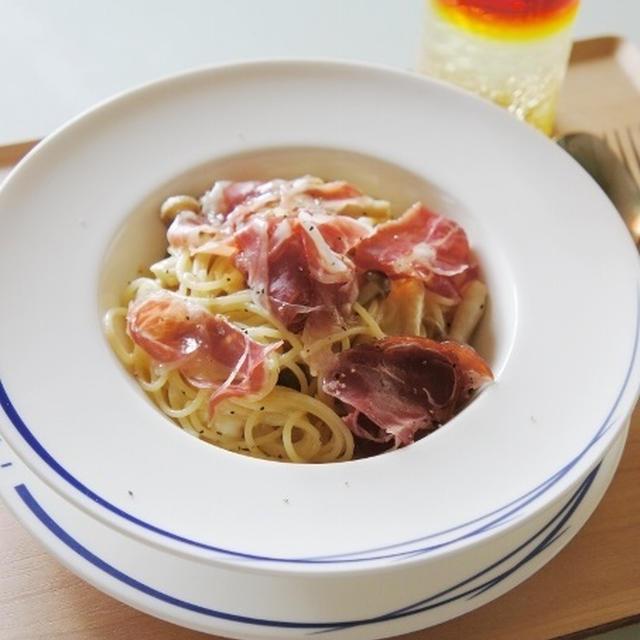 ☆モッツァレラチーズと生ハムのパスタ☆