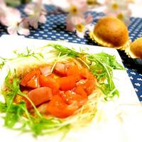 トマトサラダ バルサミコ酢♪ 顔の老化・・・
