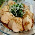 激ウマ!鶏むね肉のたっぷり薬味のごまだれ