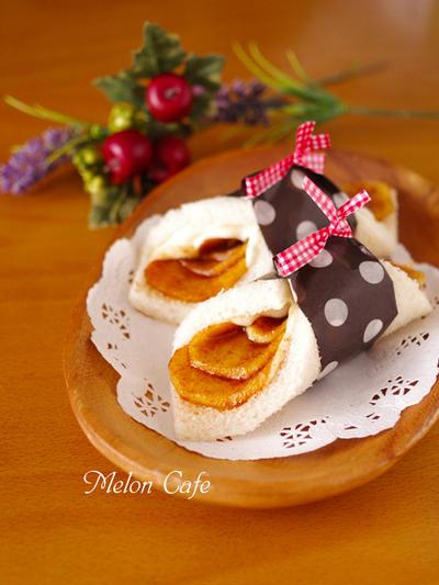 アップルシナモンのクリームチーズサンドシナイッチ☆簡単&時短♪デザート風サンドしないサンドイッチ