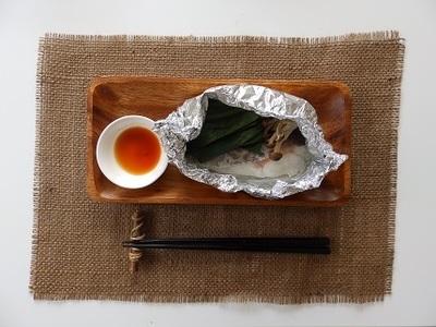 白身魚と小松菜のホイル焼き