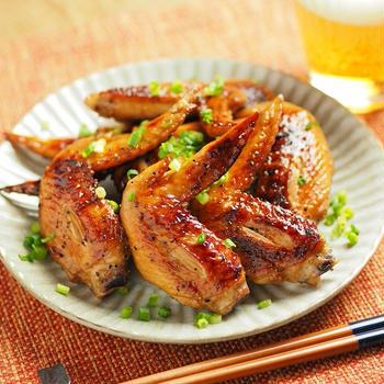 手羽先のピリ辛ぽん酢焼き、魚焼きグリルを使った料理