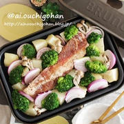 クリスマスにもおすすめ♡豚バラブロックで食べるまで熱々♡ホットプレートdeぎゅうぎゅう焼き♡