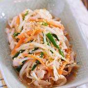 豚肉ともやしのごまポン酢和え【#作り置き #湯かけ #お弁当 #主菜 #和風】