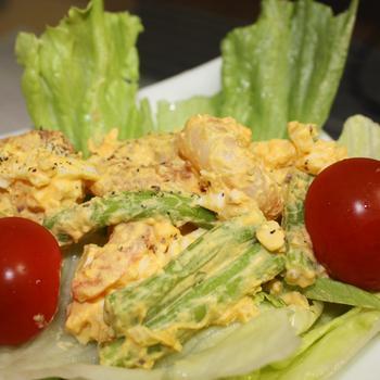 エビ&アスパラ卵サラダ
