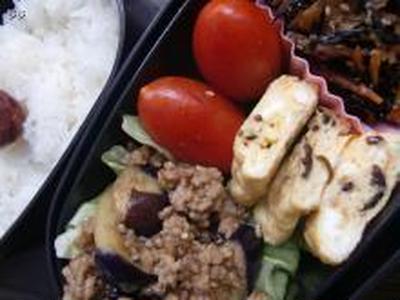 ピリッとなす炒め弁当 と 昨日の晩御飯 と 池袋イベント