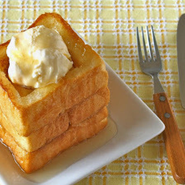 How to Make Honey Butter Toast with Vanilla Ice Cream - Video Recipe