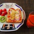 食パンにのっけてチーズ3回目は王道☆ピザトースト♪☆♪☆♪ by みなづきさん