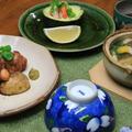 レシピ付き献立 ポテトとチキンの和風グリル・アボカドと小えびの和風サラダ・甘鯛としいたけの土瓶蒸し