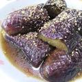 柚子胡椒と生姜がいい♪ なすのめんつゆ煮浸し