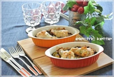 電子オーブンレンジだけで♪『夏野菜と手羽元の焼きカレー』