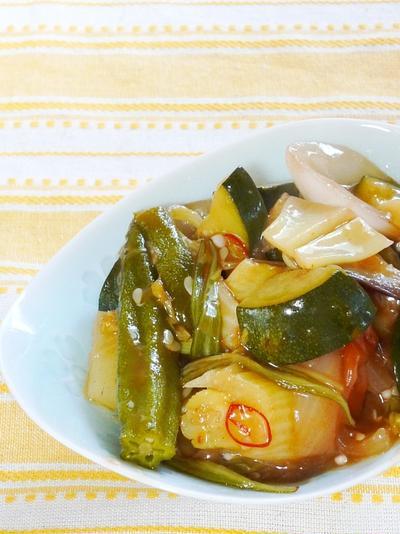 夏野菜の和風ラタテューユ