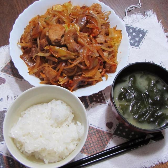 肉野菜のコチュジャン炒め