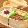 【今日のわっぱ弁当】豚肉のトマトバジル炒め