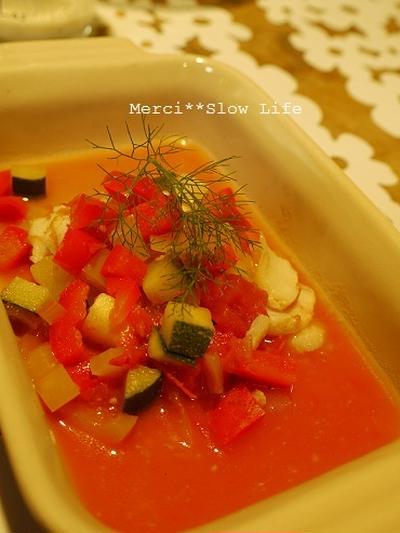 フェンネルが合う♪ ストウブで鱈の塩麹漬けのお料理 ~トマトソースレシピ付き~