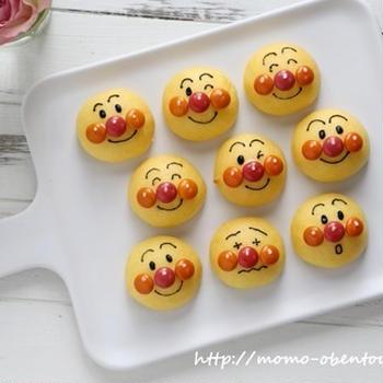 キャラパンレシピ動画*市販のパンとお菓子で簡単かわいいアンパンマンパン♪