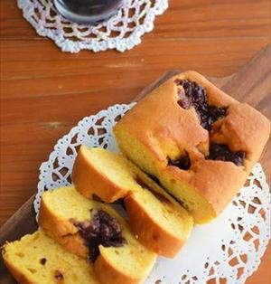 ホットケーキミックスで♪かぼちゃと小豆の ふわふわパウンドケーキ ☆