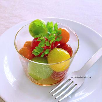 涼味さらり!ミニトマトの和風マリネ