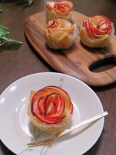 グラニュ糖で際立つ♡紅玉とさつまいものパイ #日新製糖 #グラニュ糖 #スイーツ #手作りおやつ