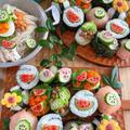 業務スーパーの「まぐろのたたき」が大活躍 夏のかわいいお寿司