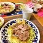 煮るだけ★豚肩ロースのかたまり肉で豪快簡単チャーシュー丼。