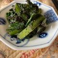 胡麻和え二品、小松菜と茄子