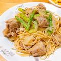 ピリッと風味が美味しい「鶏とアスパラのゆず胡椒パスタ」レシピ。