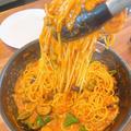 まるでカニのトマトクリームスパゲティです!!