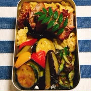 鶏の照り焼き弁当・アカモク酢の物・お客様の洋風松花堂弁当・女性向けの9分割弁当②・ドラマ