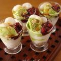 【レシピ】ふるふるミルクゼリーの和風パフェ☆Suipa.の容器モニター「コーラスグラス」&休日のお昼ごはん by めろんぱんママさん