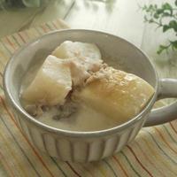 思いがけず贅沢(笑)大根と豚肉のミルクスープ