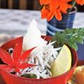 ■簡単ランチ【この季節に食べたくなる シラスメカブ丼/大根と塩昆布のキムチ和え漬物】