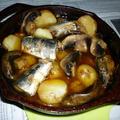 キャプスキで秋刀魚のアヒージョ