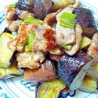 豚肉とナスと韓国風炒め