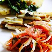 にんじんとトマトのサラダ