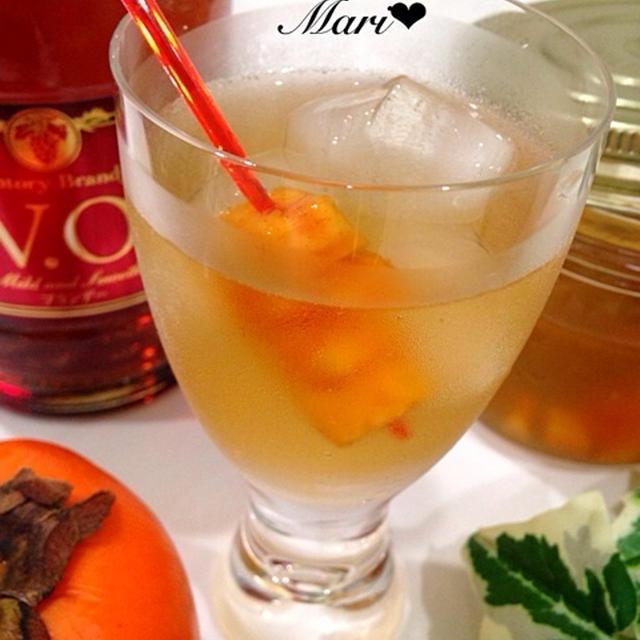 「ジャーと季節のフルーツでつくる今注目のお酒&ドリンク」柿のフルブラ