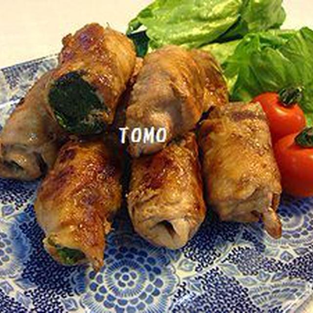 ほど塩レシピ♪豚コマ肉  de  のらぼう菜の肉巻き